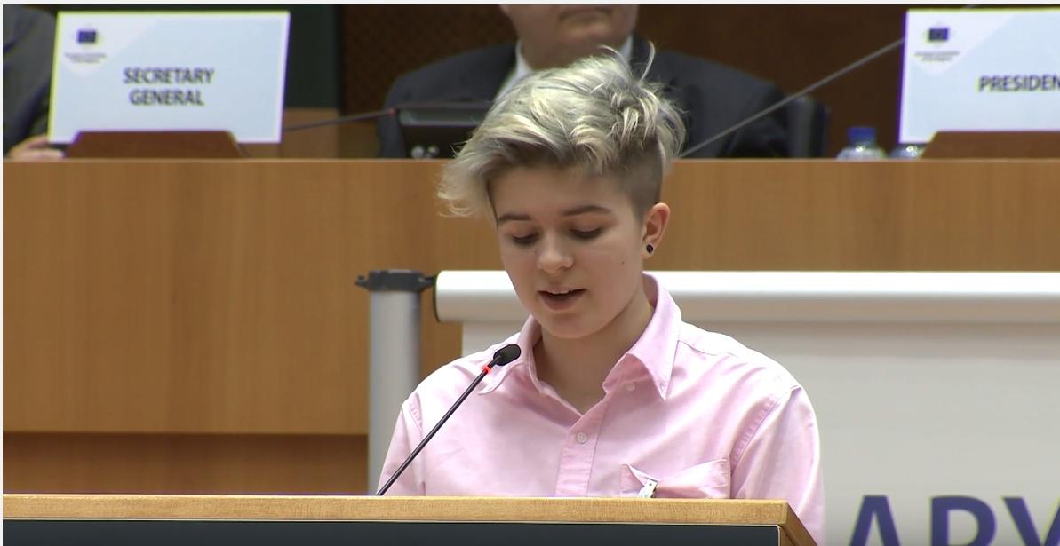 Olivia Sokół na sesji Komitetu Regionów UE