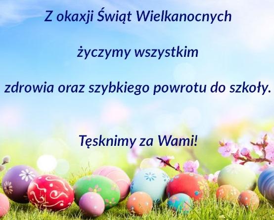 Życzymy zdrowych Świąt Wielkanocnych